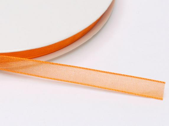 Organza Band -quot;Poly-quot; mm 7x50 mt orange Fl