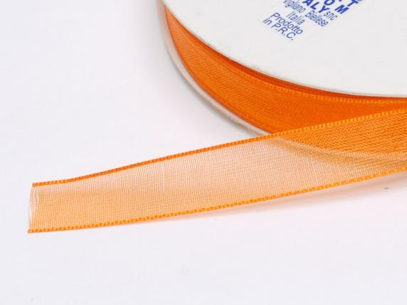 Organza Band -quot;Poly-quot; mm 10x50 mt orange F