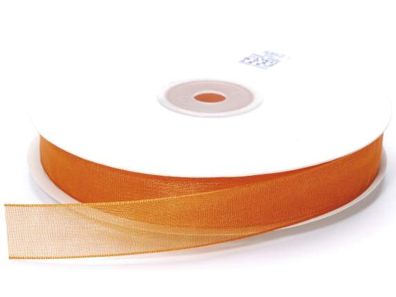 Organza Band -quot;Poly-quot; mm 15x50 mt orange F
