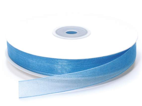 Organza Band -quot;Poly-quot; mm 15x50 mt türkis