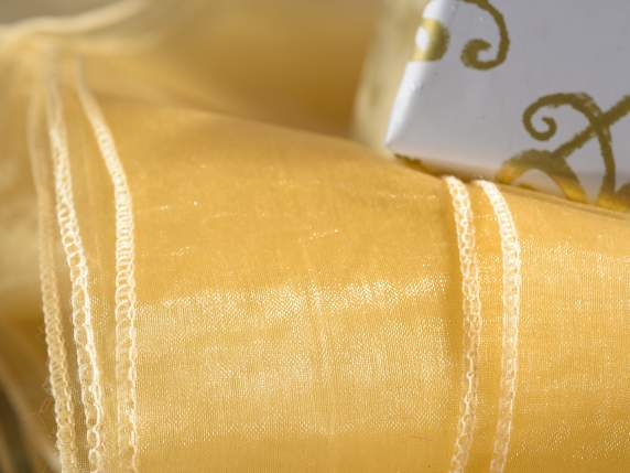 Organdy gold tablecloths with edge