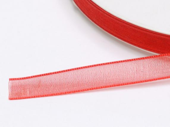 Organdy ribbon -quot;Poly-quot; mm 7x50 mt rote Er