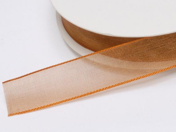 Organza Band -quot;Poly-quot; mm 15x50 mt Bronze