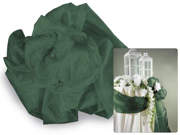 Emerald green tissue in simple organza