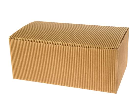 Square box in natural paper