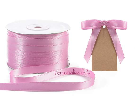 Satin double ribbon mm 10 antique pink personalized