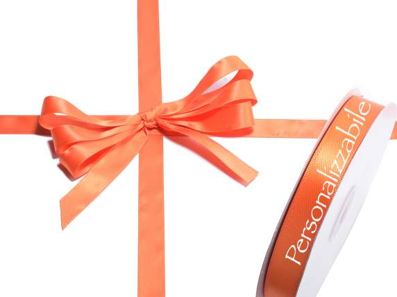 Satin ribbon mm 15 orange flame persinalized