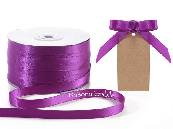 Satin ribbon mm 10 orchid purple personalized