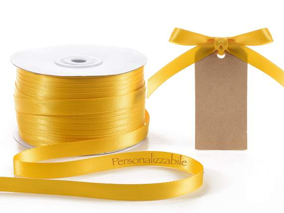 Satin double ribbon m 10 yellow sunflower personalized