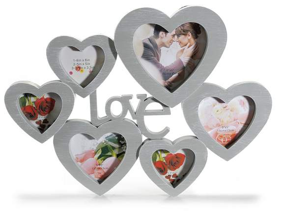 Hanging Love photo holders in plastic w-6 frames
