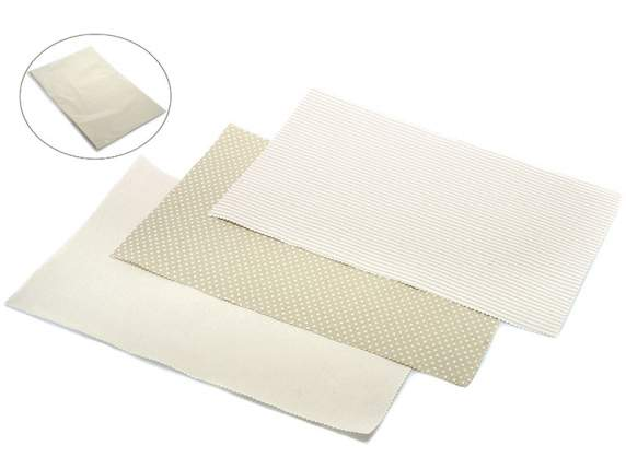 Confection of 6 placemats in natural cotton