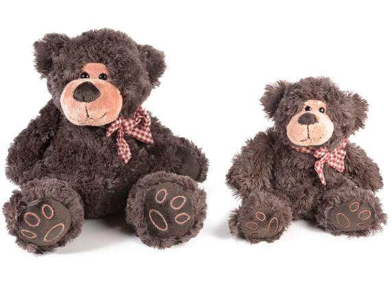 Set 2 plush bears with bow
