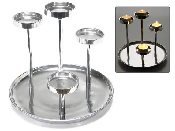 Metal candle holder 4 tiers
