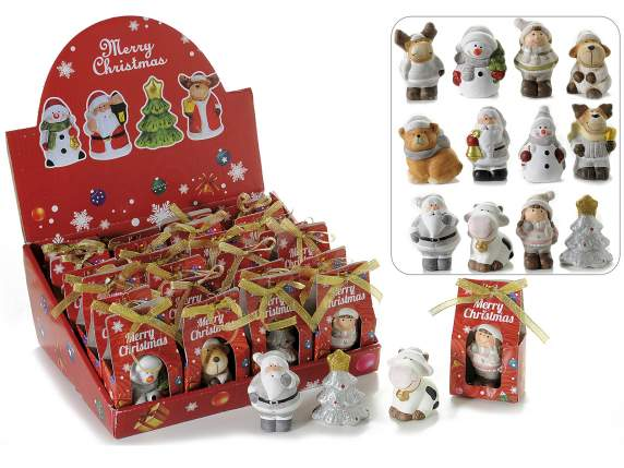 Christmas subjects in pottery w-gift confection in expo
