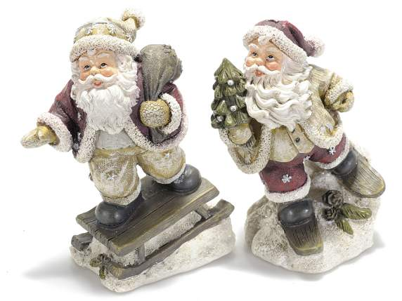 Santa Claus in coloured resin