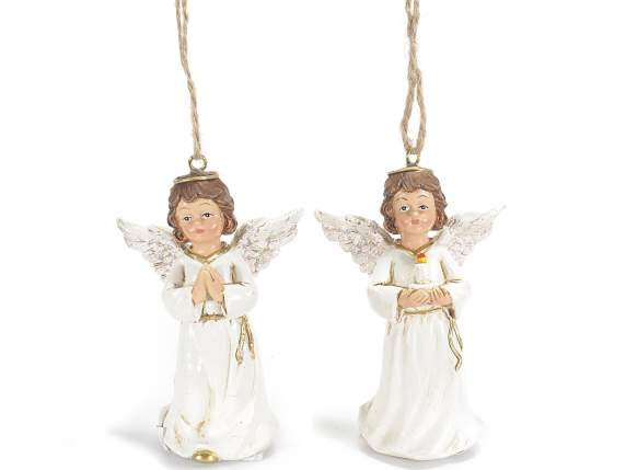 Angels in resin to hang