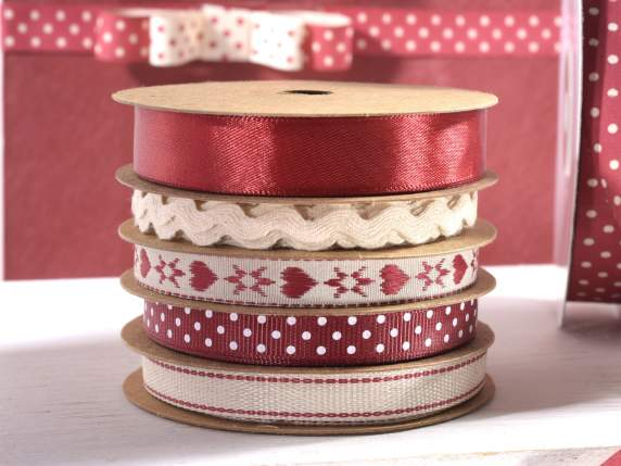 Set 5 Country living ribbons in multiple roll