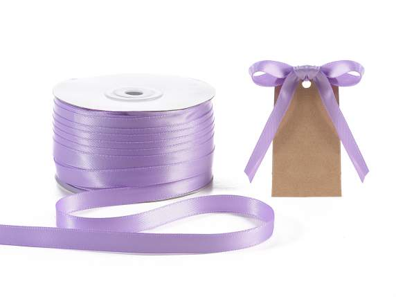 Ruban double satin Poly 10 mmx 100 mt lilas