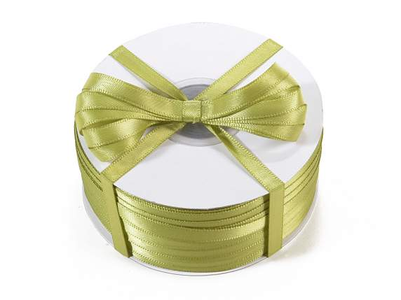 Ruban double satin Poly 6mm x 100mt vert olive