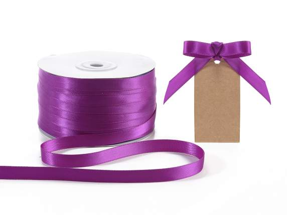 Ruban double satin Poly 10 mmx 100 mt violet