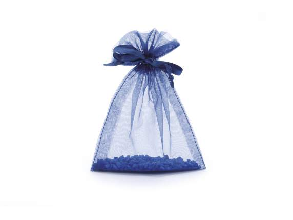 Sacchetto in organza royal blu cm 12x16 con tirante