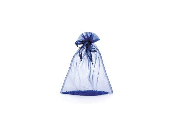 Sacchetto in organza royal blu cm 23x30 con tirante