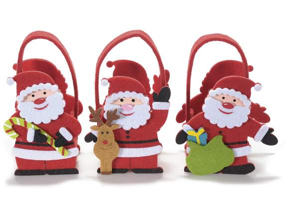 Felt Santa Claus shaped bags