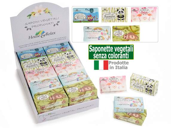 Saponetta vegetale 150gr senza coloranti in espositore