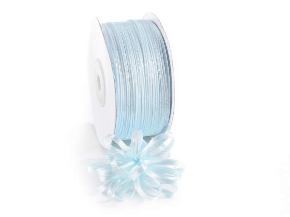 Satin Bandrolle -quot;Poly-quot; mm 3x100 hellblau