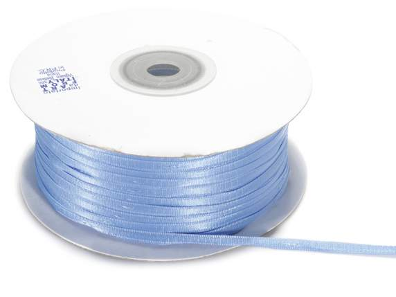 Satin Bandrolle -quot;Poly-quot; mm 3x100 mt hellb