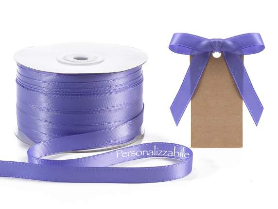 Satin ribbon mm 10 lavender personalized