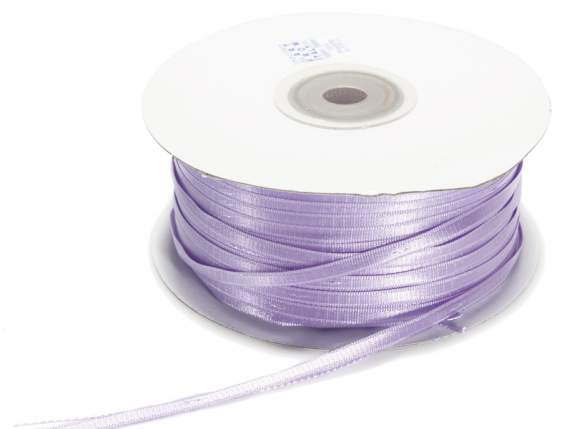 Satin ribbon roll Poly  mm 3x100 mt light purple