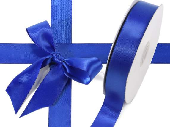 Satin ribbon roll Poly mm 25x50 mt royal blue colour