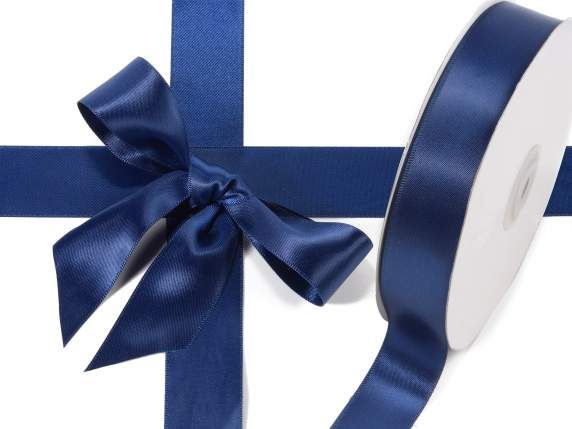 Satin ribbon roll Poly mm 25x50 mt night blue colour