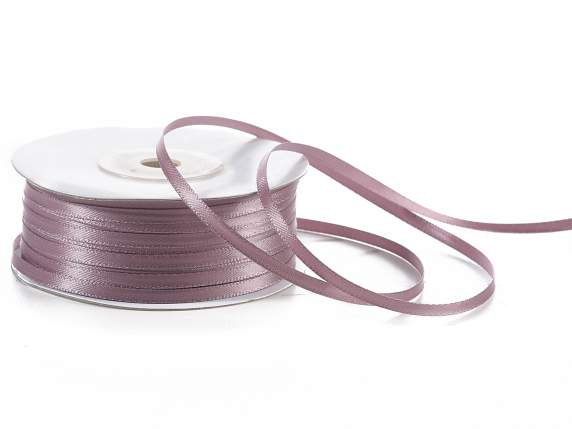 Satin ribbon roll Poly mm 3x100 mt dove-grey colour