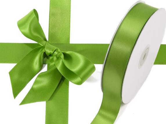 Satin ribbon roll Poly mm 25x50 mt green colour