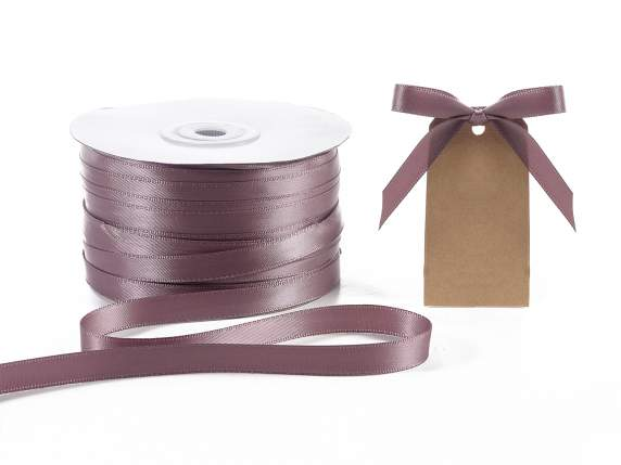 Satin ribbon roll Poly mm 10x100 mt dove grey colour