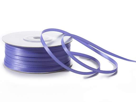 Satin ribbon roll Poly mm 3x100 mt lavander blue colour
