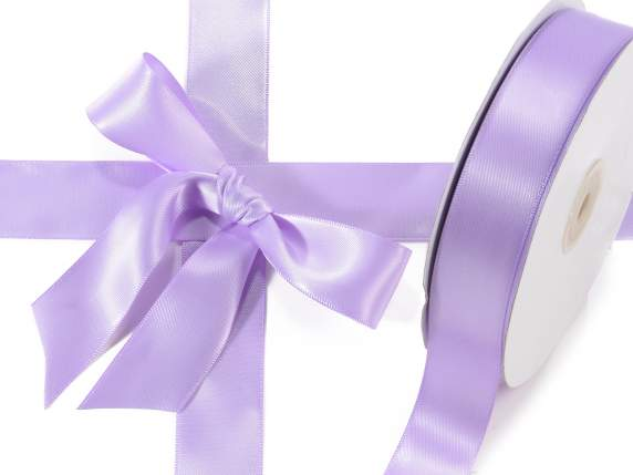 Satin ribbon roll Poly mm 25x50 mt lilac colour