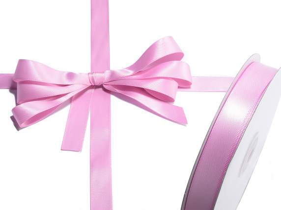 Satin ribbon roll Poly mm 15x50 mt ancient pink colour