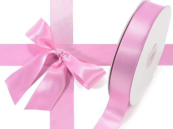 Satin ribbon roll Poly mm 25x50 mt ancient pink colour