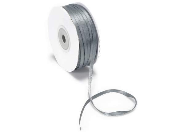 Satin Bandrolle -quot;Poly-quot; mm 3x100 mt rauch