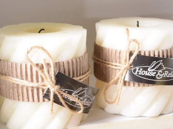 Big scented ivory candles