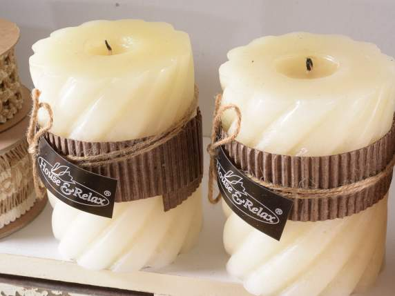 Medium ivory scented candles