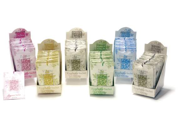 Expo of 10 scented sachets of 10 gr. each for drawers