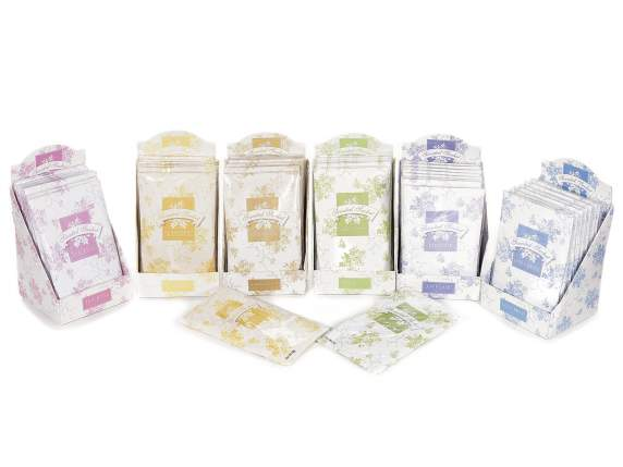 Scented big sachets for closet with display 12pz 20 gr