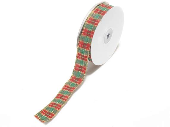 Scottish ribbons with gold lurex decoration