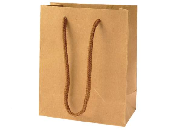 Small natural coloured paper bags
