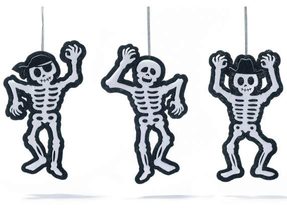 Decorative fabric skeleton for Halloween to hang