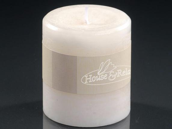Small ivory candle  burning time 33 hours.